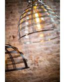 Barletta Hanglamp Zwart D50xH25 cm (Max. 75w) Plafondlamp