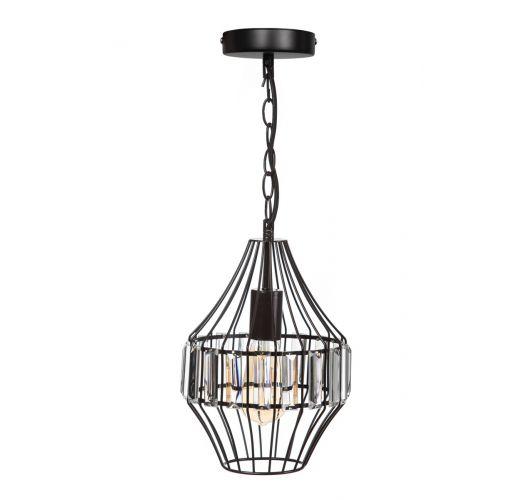 ETH Hanglamp Sparkle 21cm Matt Coffee / Helder Glas Plafondlamp