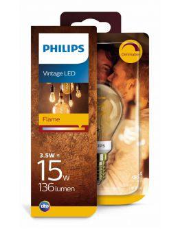 Philips Led Spiraal Kogel Goud   15W   E14   Dimbaar