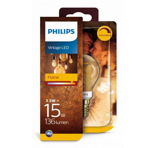 Philips Led Spiraal Kogel Goud | 15W | E14 | Dimbaar  Ledlampen