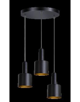 ETH Hanglamp Sledge 3x E27 diameter 30cm / zwart