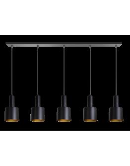 ETH Hanglamp balk Sledge 5x E27 120cm / zwart
