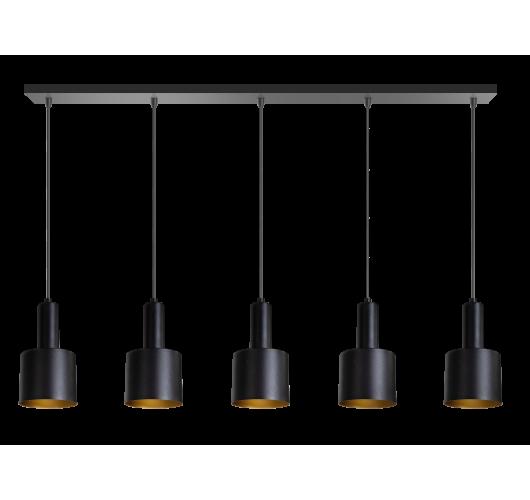 ETH Hanglamp balk Sledge 5x E27 120cm / zwart Hanglampen
