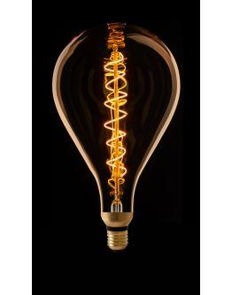 Led Spiraal Filament XXL Standaard Goud | 8W | Dimbaar