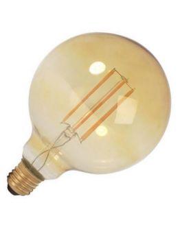 Ledlamp Globe 125mm Goud 4W E27 Dimbaar