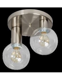 Calvello plafondlamp helder glas 2 lichts