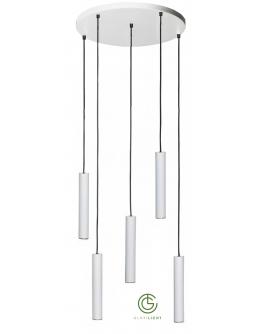 Salerno Hanglamp 5 Lichts Wit Rond - Ztahl By Dijkos OP=OP