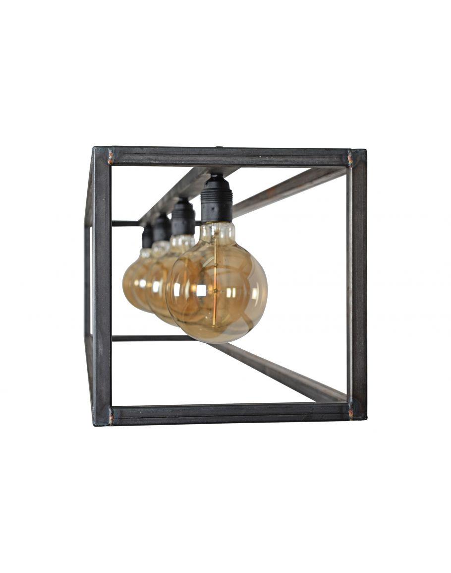 rimini hanglamp zwart staal ztahl by dijkos plafondlamp