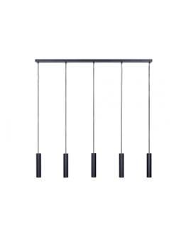 Salerno Hanglamp 5 lichts Zwart - Ztahl By Dijkos