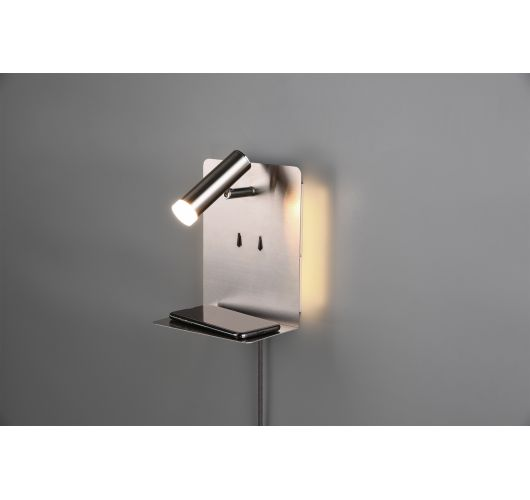 Wandlamp - Bedlamp - Element - USB - LED - RVS Bedlampen