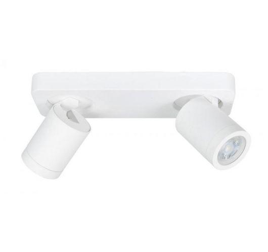 Highlight Spot Oliver 2 Lichts Balk Wit | Badkamer IP44  Spots