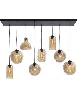Highlight Hanglamp Fantasy 8 Lichts | Amber Glas