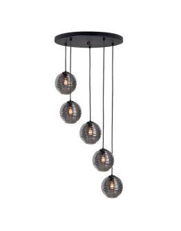 Highlight Hanglamp Fantasy 5 Lichts | Rookglas