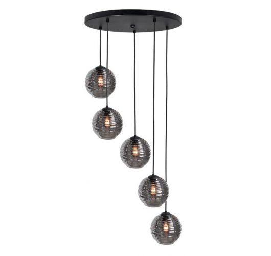 Highlight Hanglamp Fantasy 5 Lichts | Rookglas Hanglampen