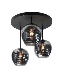 Highlight Plafondlamp Fantasy 3 Lichts   Rookglas