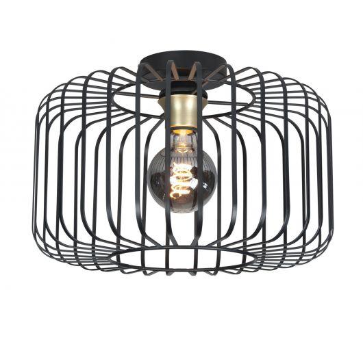 Highlight Plafondlamp Lucca Ø 40cm | Zwart Plafonnière