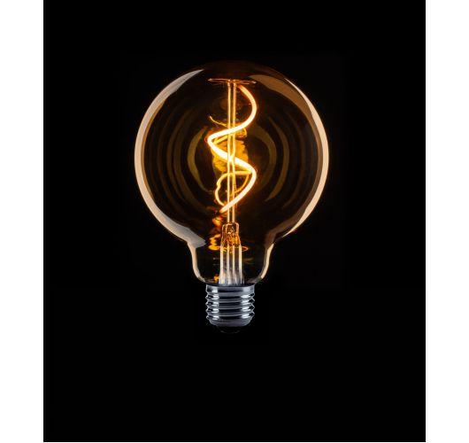 Led Spiraal Filament 95mm 4W model globe goud dimbaar LED-lampen