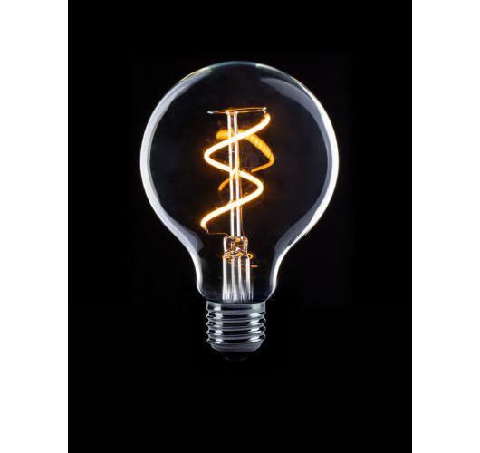 Led Spiraal Filament 80mm 2W model globe helder (niet dimbaar) LED-lampen