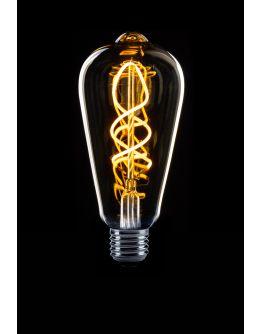 Led Spiraal Edison Helder | 4W | Dag/Nacht Sensor