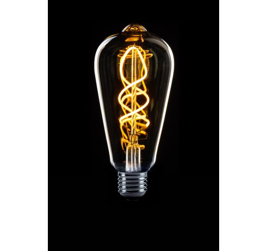 Led Spiraal Edison Helder   4W   Dag/Nacht Sensor Ledlampen