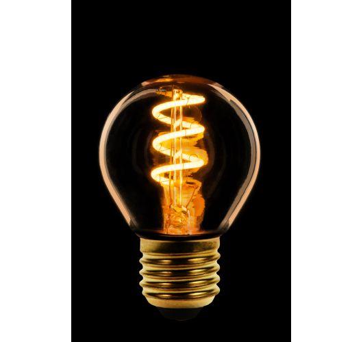 Led Spiraal Kogel Goud | 2W | E27 | Niet Dimbaar  Ledlampen