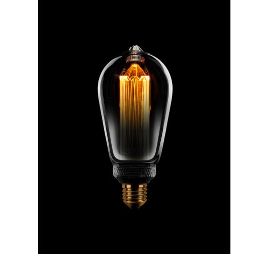 Led Kooldraad Sceneswitch Edison ST64  half Smoke / half Helder   5W/2.5W/1W Ledlampen