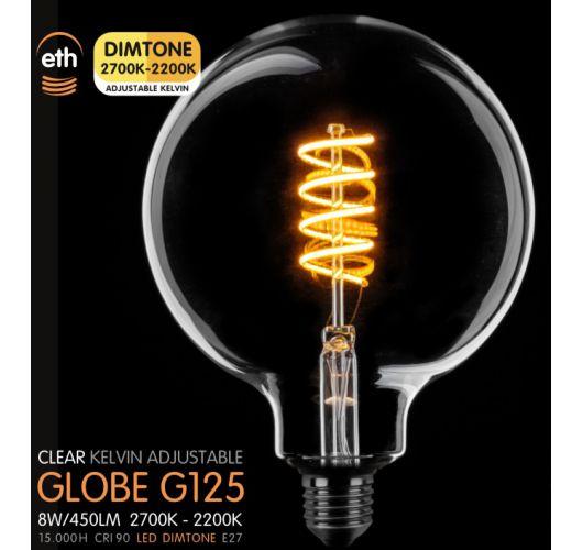Led Spiraal 125MM Helder 8W | Dimtone 2700K - 2200K Ledlampen