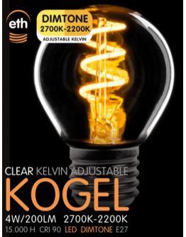 Led Spiraal Kogel Helder 4W | Dimtone 2700K - 2200K