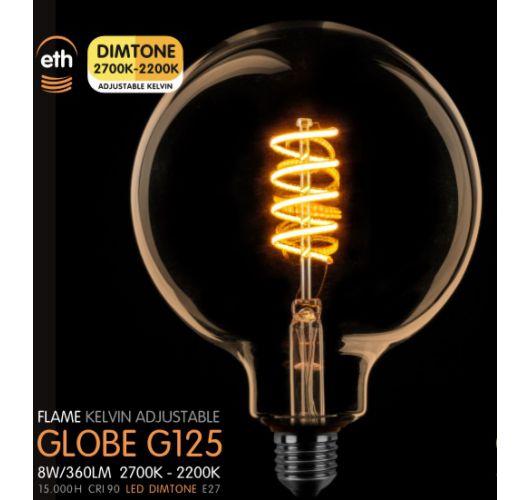 Led Spiraal 125MM Goud 8W | Dimtone 2700K - 2200K Ledlampen