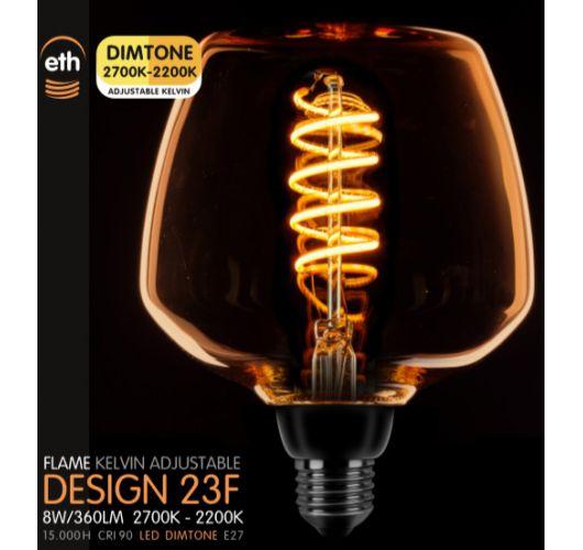 Led Spiraal Deco Goud 8W | Dimtone 2700K - 2200K Ledlampen