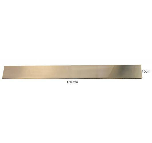 Plafondbalk 1500x150x25mm satin staal zonder gaten Overigen