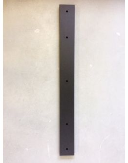 Plafondbalk 900x90x25mm 3 Gaten Mat Zwart