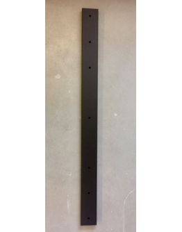 Plafondbalk 1200x90x25mm 5 Gaten Mat Zwart