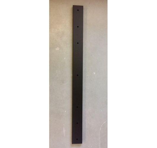 Plafondbalk 1200x90x25mm 5 Gaten Mat Zwart Overigen