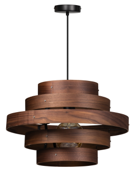 ETH Hanglamp Walnut | 5-rings