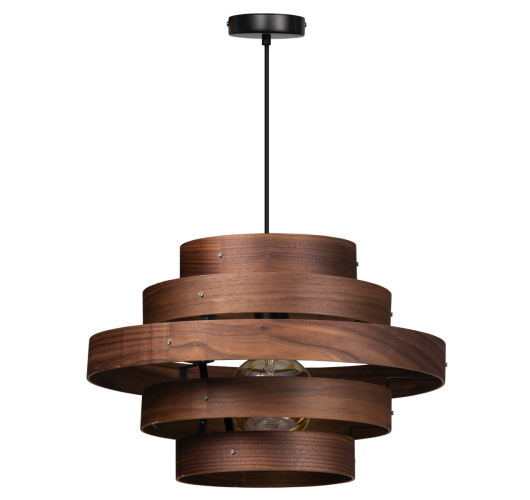 ETH Hanglamp Walnut | 5-rings Hanglampen