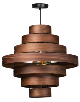 ETH Hanglamp Walnut | 7-rings