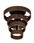 ETH Plafondlamp Walnut | 4-rings Plafondlamp