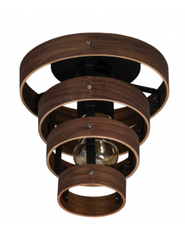 ETH Plafondlamp Walnut | 4-rings
