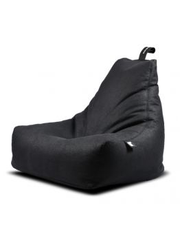 Extreme Lounging B-Bag Mighty-B Indoor Lederlook Charcoal
