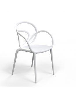Qeeboo Loop Chair zonder kussen, set van 2 stuks - Wit