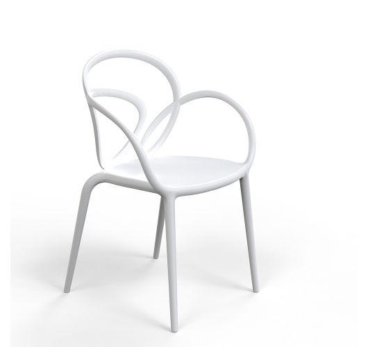 Qeeboo Loop Chair zonder kussen, set van 2 stuks - Wit Accessoires