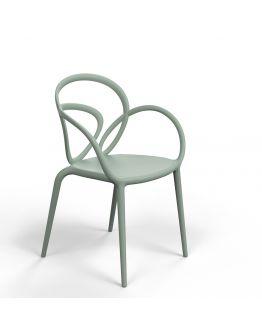 Qeeboo Loop Chair zonder kussen, set van 2 stuks - Groen