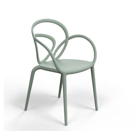 Qeeboo Loop Chair zonder kussen, set van 2 stuks - Groen Overigen