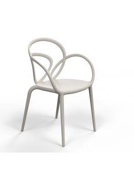 Qeeboo Loop Chair zonder kussen, set van 2 stuks - Grey