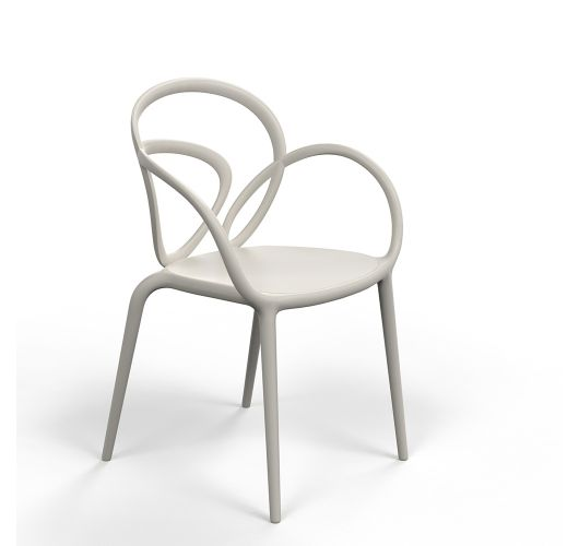 Qeeboo Loop Chair zonder kussen, set van 2 stuks - Grey Overigen