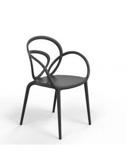Qeeboo Loop Chair zonder kussen, set van 2 stuks - Zwart