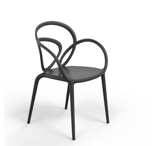 Qeeboo Loop Chair zonder kussen, set van 2 stuks - Zwart Accessoires