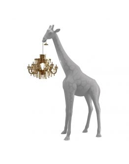 Qeeboo Giraffe in Love XS lamp - Cold Sand