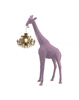 Qeeboo Giraffe in Love XS lamp - Dusty Rose